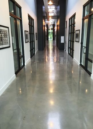 Polished concrete floor systems for durable unique flooring solutions.